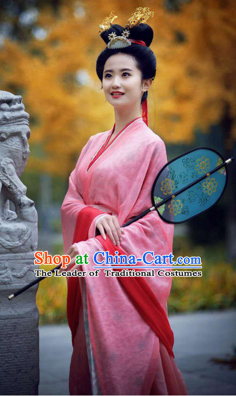 Chinese Han Dynasty Hanfu Dress China Hanfu Costume Histroical Dresses Traditional Hanfu Wedding Ceremony Chinese Culture Clothing Complete Set