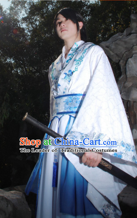 Chinese Traditional Han Fu Swordsman Clothes for Men China Women Dress Customized  Male Dresses Cheongsams Qipao Hanfu Complete Set