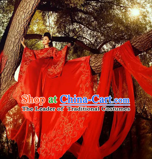 Chinese TV Drama Costume Ancient Theatrical Costumes Historical Clothing and Hair Jewelry Complete Set for Women