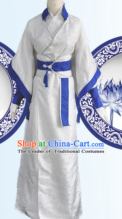 Ancient Chinese Scholar Costumes Complete Set for Men