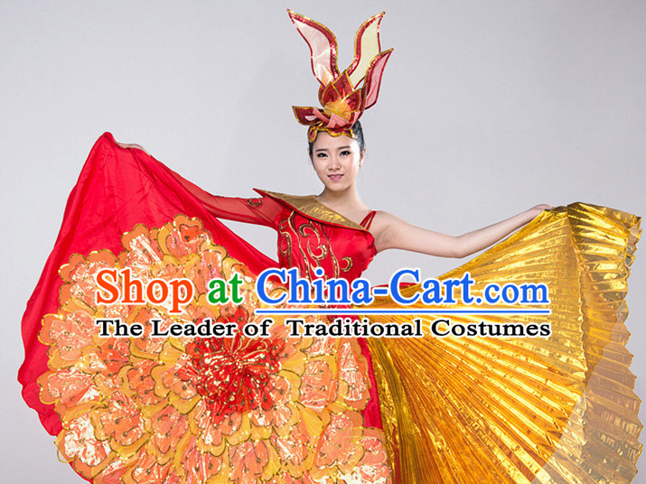 Chinese Folk Dance Costume for Women or Girls