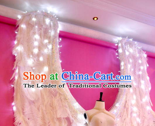 Unique Design Giant Feather Angel Wings Stage Costumes Theater Costumes Professional Theater Costume for Women