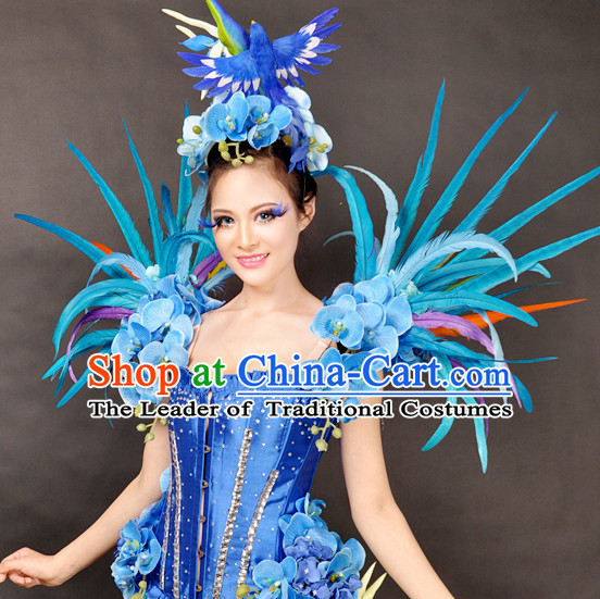 Unique Design Blue Bird Stage Costumes Theater Costumes Professional Theater Costume for Women