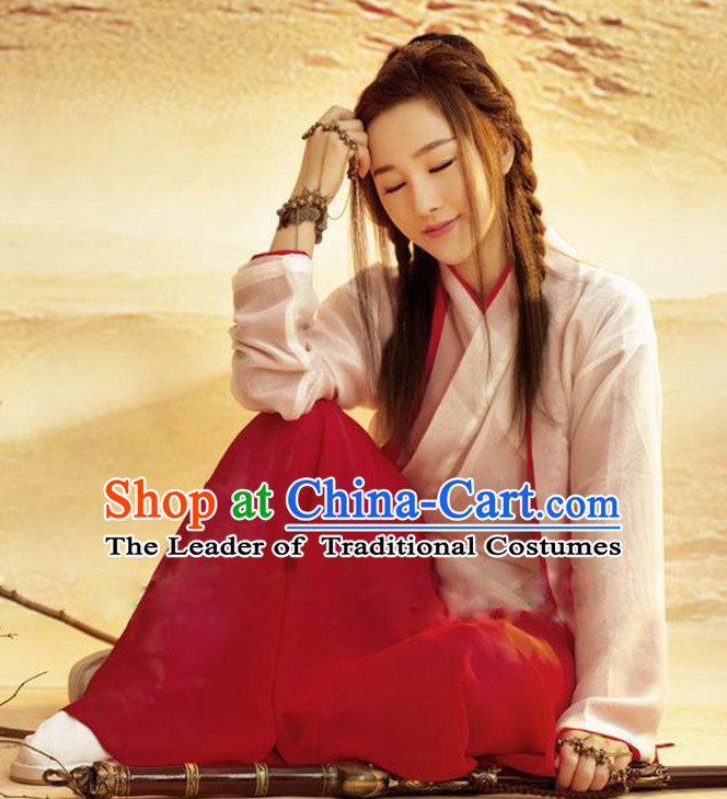 Ancient Chinese Sword Woman Swordswoman Hanfu Dress Hanbok Kimono Cosplay Costume Traditional Dresses Complete Set