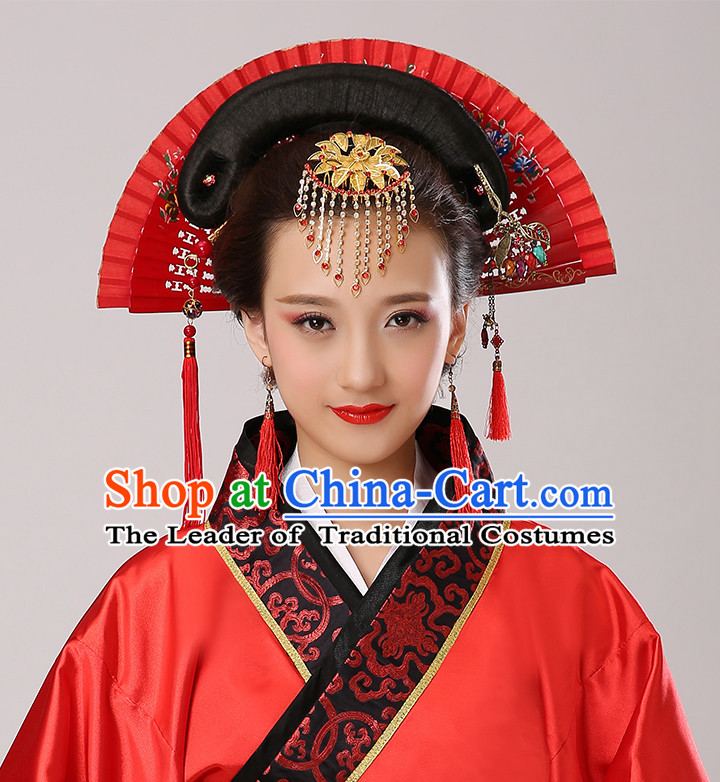 Chinese Traditional Fan Shape Headdress