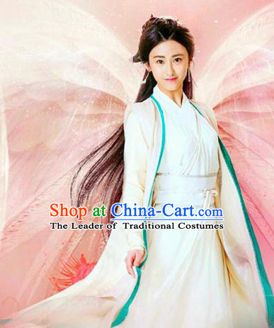 Top Chinese Ancient Guzhuang Hanfu Women's Clothing _ Apparel Chinese Traditional Dress Theater and Reenactment Costumes and Headwear Complete Set
