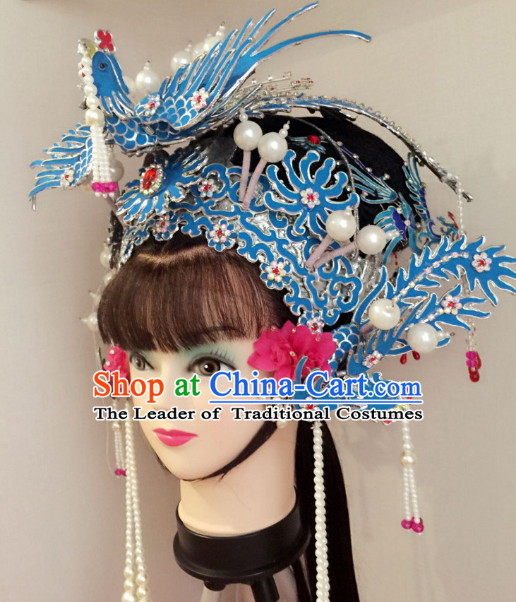Chinese Classical Yue Opera Dance Costumes Huang Mei Opera Hat Helmet