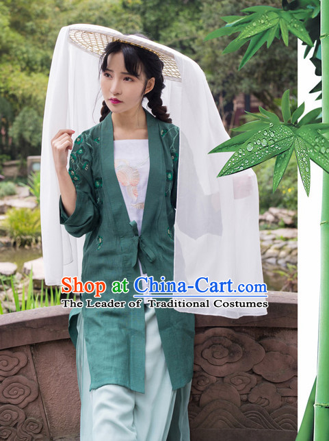 Asian Traditional High Quality Hanfu Han Dynasty Clothes Costume Costumes Complete Set for Women Girls Children Adults