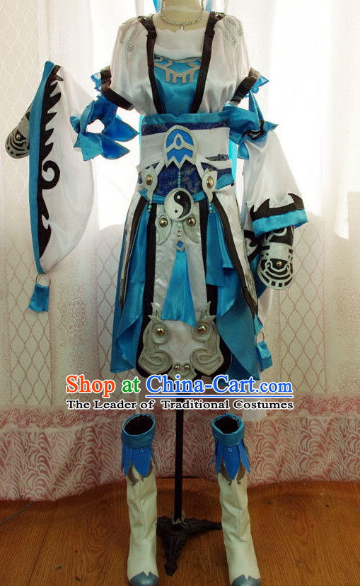 China High Quality Costume Cosplay Taoist Archer Costume Avatar Costumes Wonderflex Knight Armorsuit Leather Metal Fantasy Armoury Complete Set