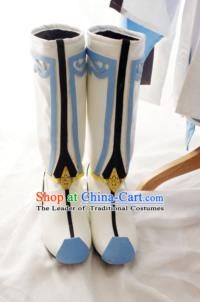 Top Chinese Traditional Armor Cosplay Suphero Supheroine Classical Boots