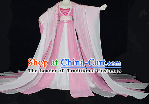 Top Pink Chinese Imperial Royal Princess Traditional Wear Queen Dresses Fairy Cosplay Costumes Ideas Asian Cosplay Supplies Complete Set