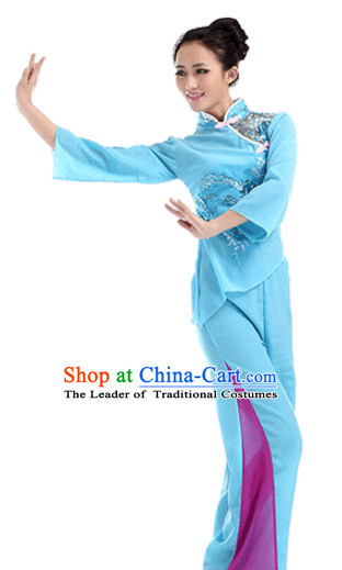 Traditional Chinese Fan Dancing Costume Chinese Dance Costumes Complete Set for Women