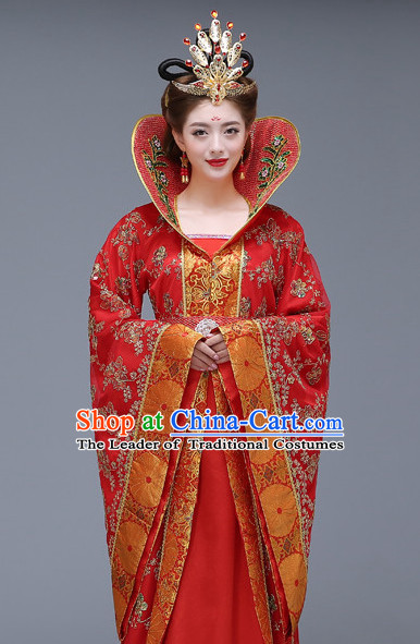 Traditional Chinese High Collar Women Clothes CLassical Dress Complete Set