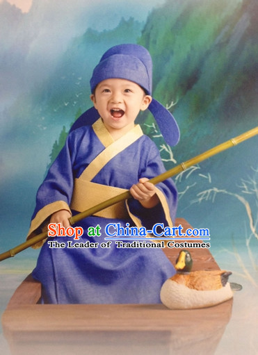 Traditional Chinese Women Clothes Classical Dress Complete Set for Kids