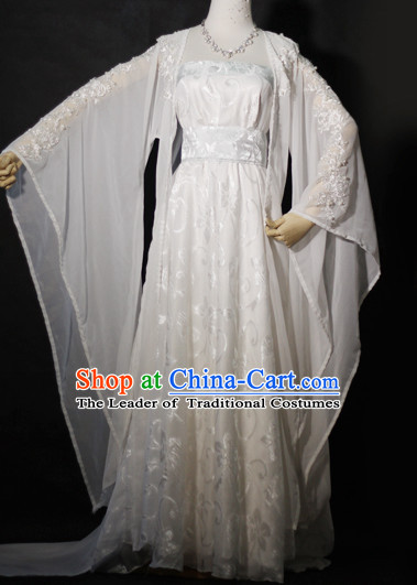 White Hanfu Hanzhuang Han Fu Han Clothing Traditional Chinese Dress National Costume Complete Set