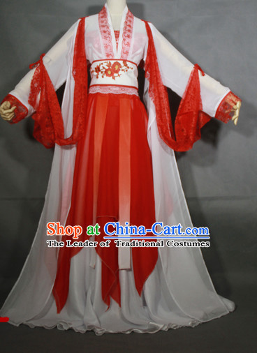 Red Hanfu Hanzhuang Han Fu Han Clothing Traditional Chinese Dress National Costume Complete Set