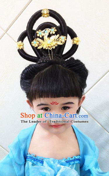 Ancient Chinese Black Wig for Kids