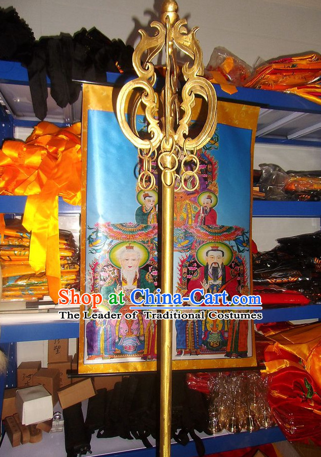 Pure Brass Buddhist Monk's Stiff Staff Spades