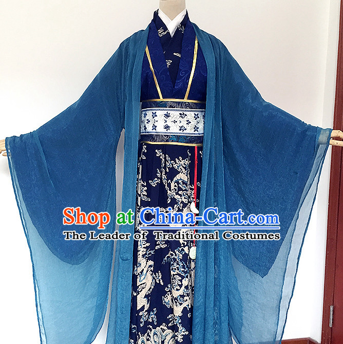 Ancient Chinese Prince Dragon Clothing National Costumes Complete Set for Men