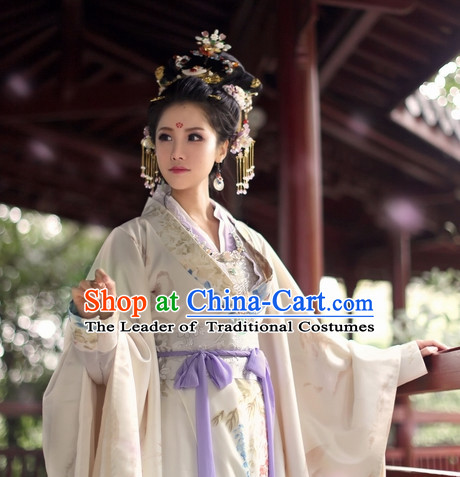 Chinese Ancient Style Princess Black Wigs and Headgear