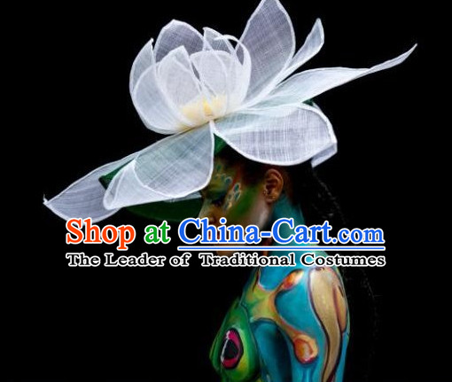 Handmade Chinese Custom-Made Stage Performance Large Lotus Hat
