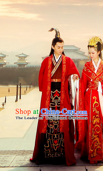 Ancient Chinese Emperor Imperial Wedding Dress for Bridegroom
