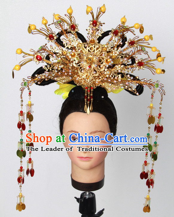 Chinese Princess Hair Headwear Crowns Hats Headpiece Hair Accessories Jewelry