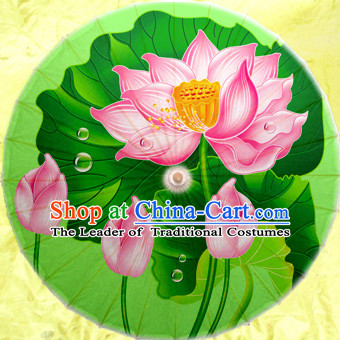 Asian Dance Umbrella China Handmade Classical Lotus Umbrellas Stage Performance Umbrella Dance Props