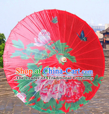 Asian Dance Umbrella China Handmade Classic Umbrellas Stage Performance Umbrella Dance Props