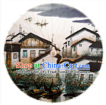 Asian Dance Umbrella China Handmade Classical Ancient House Umbrellas Stage Performance Umbrella Dance Props