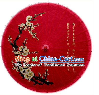Asian Dance Umbrella Chinese Handmade Plum Blossom Umbrellas Stage Performance Umbrella Dance Props
