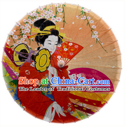 Asian Dance Umbrella Geisha Handmade Umbrellas Stage Performance Umbrella Dance Props
