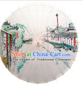 Asian Dance Umbrella China Handmade Umbrellas Stage Performance Umbrella Dance Props