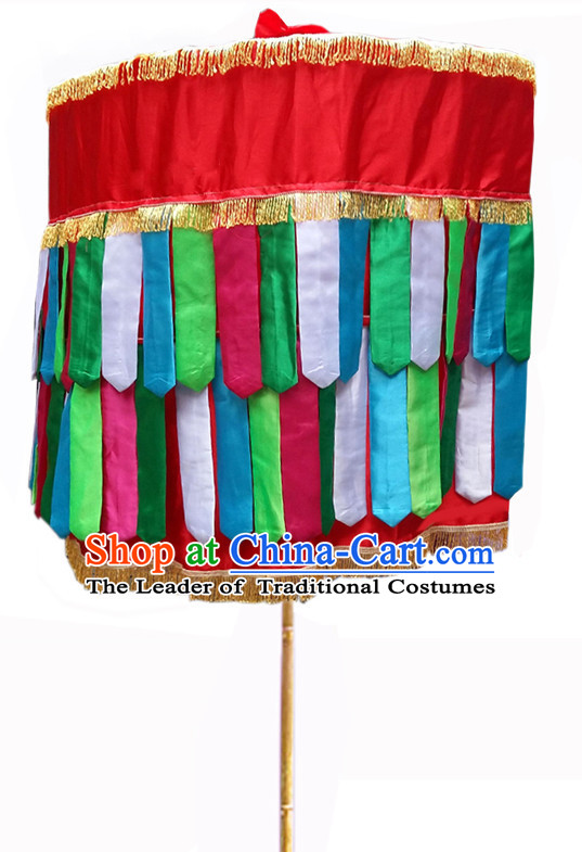 Traditional Fabric Handmade Chinese Classic Luo Umbrellas China Dance Umbrella Stage Performance Umbrella Dancing Props