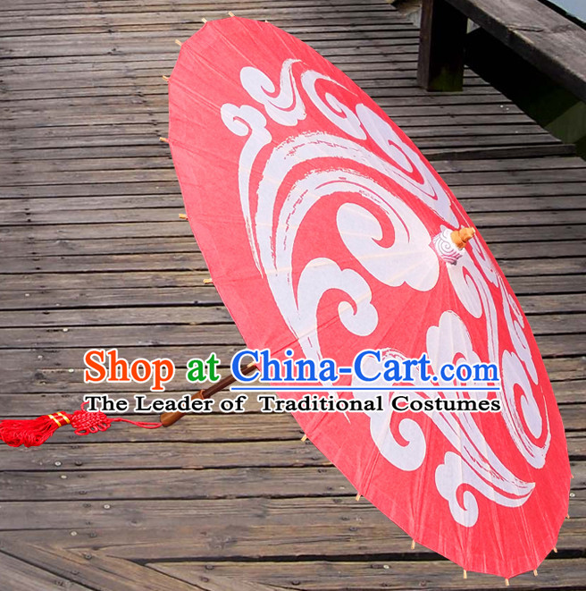 Asian Dance Umbrella China Handmade Traditional Auspicious Cloud Umbrellas Stage Performance Umbrella Dance Props