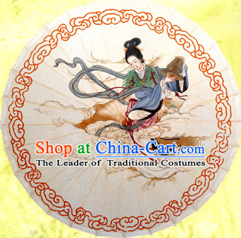 Asian Dance Umbrella China Handmade Traditional Beauty Umbrellas Stage Performance Umbrella Dance Props