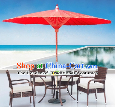 Red Giant Traditional Handmade China Dance Fabric Umbrella Stage Performance Umbrella Dancing Props