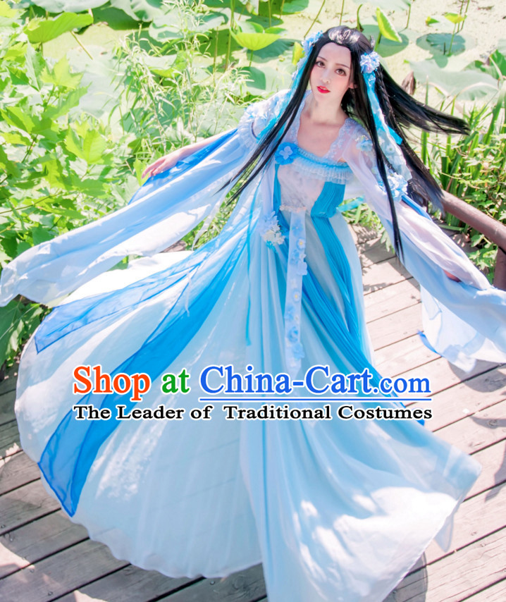 Chinese Hanfu Hakama Traditional Fairy Dress Quju Supreme Chinese Costume Ancient Chinese Costume Complete Set