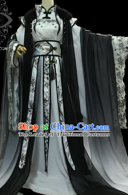 Chinese Hanfu Hakama Traditional Prince Dress Quju Supreme Chinese Costume Ancient Chinese Costume and Headpieces Complete Set