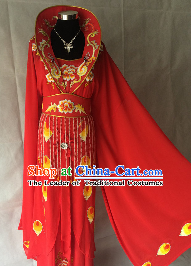 Long Sleeves China Beijing Opera Women Princess Costume Embroidered Robe Stage Costumes Complete Set