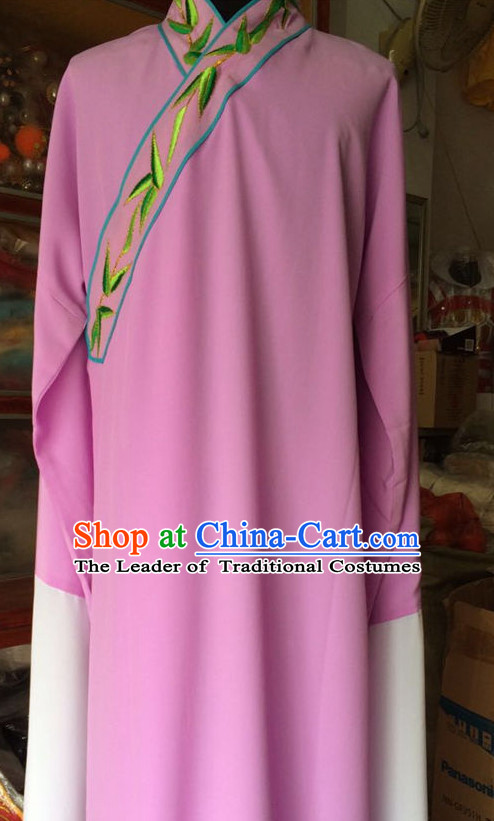 China Beijing Opera Men Scholar Costume Embroidered Robe Stage Costumes Complete Set