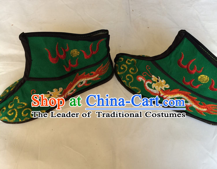 China Beijing Opera Embroidered Dragon Shoes