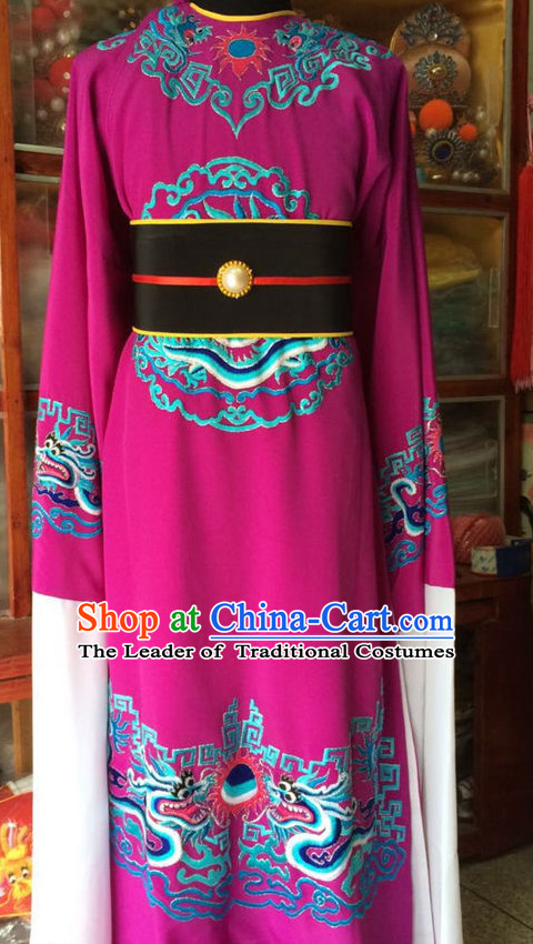 China Beijing Opera Men Official Costume Embroidered Robe Stage Costumes Complete Set