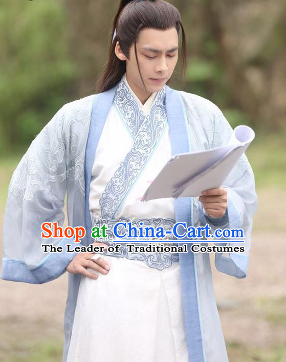 Chinese Ancient Male Swordsman Black Wigs