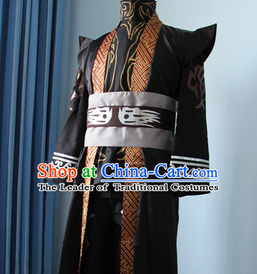 Chinese Men Emperor Hanbok Kimono Stage Opera Costume Dresses Costume Ancient Cosplay Complete Set