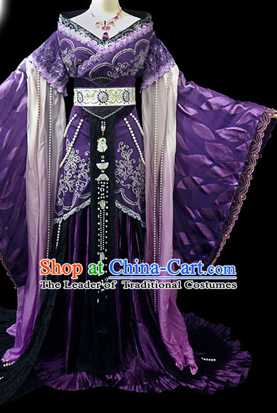 Chinese Women Royal Hanbok Kimono Stage Opera Costume Dresses Costume Ancient Cosplay Complete Set