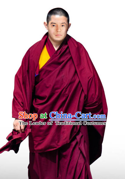 Tibetan Monk Shawl Clothing Complete Set for Men