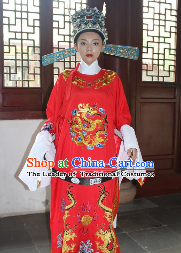 Chinese Wedding Opera Stage Costume Embroidered Hanfu Dress Gown Costumes Ancient Costume Clothing Complete Set