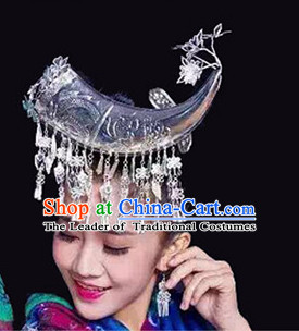 Chinese Miao Silver Headpieces