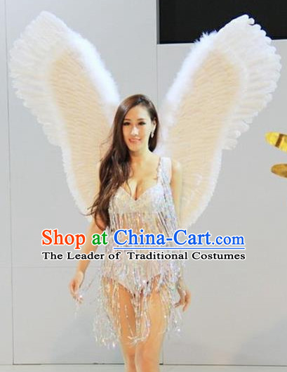 Parade Quality Model Feather Dance Costumes Popular Ostrich Feathers Fancy Bird Costume Stage Costumes Angel Wings Costume Complete Set